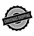 Christmas Shopping rubber stamp vector image vector image