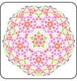 circular symmetry pattern vector image vector image