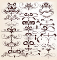 collection decorative flourishes for design vector image vector image