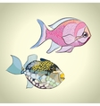 Colorful tropical fish vector image vector image