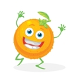 Cute orange on a white background character vector image vector image