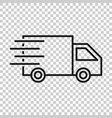 delivery truck sign icon in transparent style van vector image
