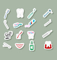 dental icons on grey background vector image vector image