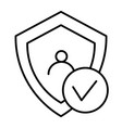 digital shield protect thin line icon shield and vector image vector image