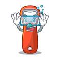 diving aluminium bottle opener for design cartoon vector image