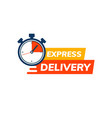 express delivery service logo fast time delivery vector image