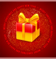 festive christmas greeting design vector image vector image