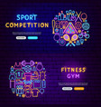 fitness gym banners vector image vector image
