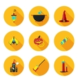 flat icons of Halloween vector image