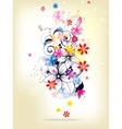 Floral spring elements and flowers vector image vector image