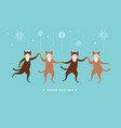 four cute cats for greeting card vector image vector image