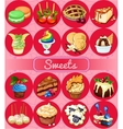 Great set of desserts 16 delicious icons vector image vector image