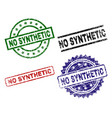 grunge textured no synthetic stamp seals vector image vector image