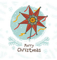 happy ukrainian christmas card vector image vector image