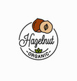 hazelnut logo round linear vector image