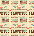 I love you in different languages seamless vector image vector image