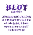ink blot typeface vector image