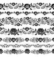 Khokhloma Floral Pattern frame vector image