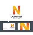 letter n - logo design vector image