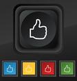Like icon symbol Set of five colorful stylish vector image