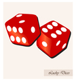lucky dices vector image