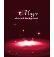 Magic stage background with smoke and stars vector image vector image