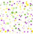 mardi gras carnival circles confetti background vector image vector image