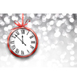 New year clock with defocused background vector image vector image