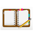 notepad and pencil for you design vector image vector image