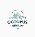 octopus seafood and fish restaurant abstract vector image vector image