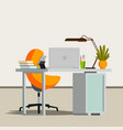 office interior business office workplace vector image