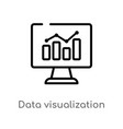 outline data visualization icon isolated black vector image vector image