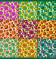 overlapping transparent polka dot patterns vector image vector image