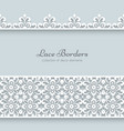 Paper frame with lace borders vector image vector image