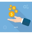 Payment of work vector image vector image