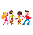 people men and women dancing at retro disco vector image vector image