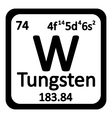Periodic table element tungsten icon vector image vector image
