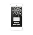 phone not sms with shadow and white background vector image