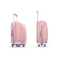 pink fashion suitcase vector image