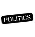 politics black stamp vector image