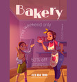 poster bakery shop with woman chef