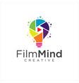 reative video film logo icon design vector image vector image