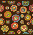 retro floral seamless on brown background vector image vector image