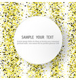 round glitter gold frame vector image vector image