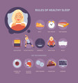 rules of sleep vector image