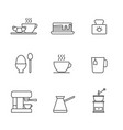 set simple breakfast icon in trendy line style vector image vector image