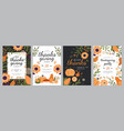 set templates for thanksgiving celebrations vector image