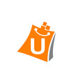 shopping online initial u vector image