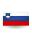 Slovenian Flag vector image vector image