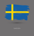 sweden colorful brush strokes painted national vector image vector image